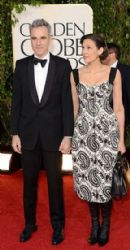 Daniel Day-Lewis and Rebecca Miller: arrives at the 70th Annual Golden Globe Awards held at The Beverly Hilton Hotel