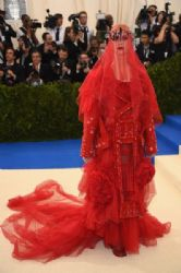 Katy Perry in Maison Margiela  Dress :  2017 Met Gala