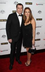 John Travolta with Kelly Preston: 9th Annual G'Day USA