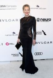 Sharon Stone: 25th Annual Elton John AIDS Foundation's Oscar Viewing Party - Arrivals