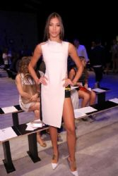 Dayana Mendoza: Angel Sanchez - Front Row - Mercedes-Benz Fashion Week Spring 2015