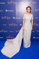 Emma Watson in  Emilia Wickstead Dress :  'Beauty and the Beast' - UK Premiere