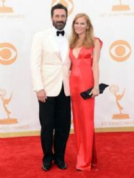 Jon Hamm and Jennifer Westfeldt: Primetime Emmy Awards 2013