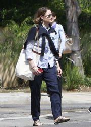 Jodie Foster Walks to Her Hotel