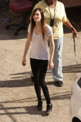 Ali Lohan visits her sister Lindsay   at the Los Angeles Coroner's Office