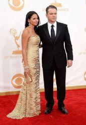 Matt Damon and Luciana Damon: Primetime Emmy Awards 2013