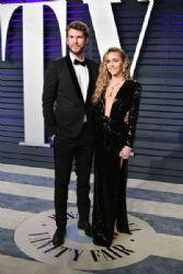 Liam Hemsworth and Miley Cyrus: 2019 Vanity Fair Oscar Party Hosted By Radhika Jones - Arrivals