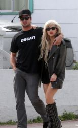 Lady GaGa And Taylor Kinney Out In LA