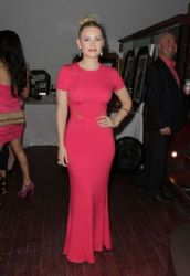 Elisha Cuthbert  hosts the annual Pink Party in Toronto 4/12/13