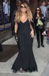 Mariah Carey making an appearance on the 'Late Show With David Letterman' in New York City, New York
