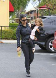Kourtney Kardashian: at Coffee Bean after her daughter Penelope's dance class in Tarzana