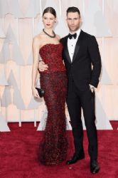Adam Levine and Behati Prinslo: 87th Annual Academy Awards 2015