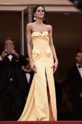Izabel Goulart wears Georges Hobeika - 'La Glace et le ciel' Cannes film premiere