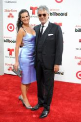 Andrea Bocelli and  Veronica Berti: Billboard Latin Music Awards 2014