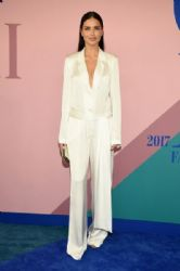Adriana Lima in Urban Zen Jumpsuit : 2017 CFDA Fashion Awards