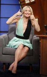 Kate Hudson wears Fausto Puglisi - Late Night With Seth Meyers