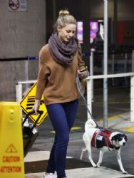 Melissa Benoist: Arriving at Vancouver Airport 11/27/ 2016