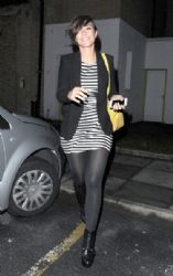Frankie Sandford: leaving a studio in London