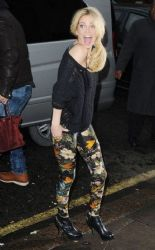 Sarah Harding: visit to BBC Radio One Live Lounge in Maida Vale