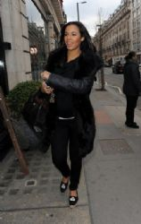 Rochelle Wiseman: enjoys a pampering session at Inanch hair salon in London