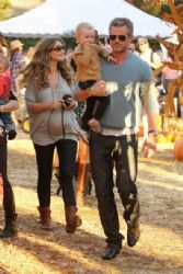 Rebecca Gayheart and Family at the Mr. Bones Pumpkin Patch