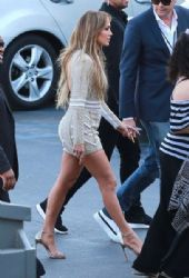 Jennifer Lopez: at the 'American Idol' studios for tonight's taping in Hollywood