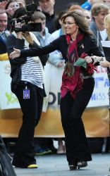 """Sarah Palin: visit to New York City's Rockefeller Plaza for her scheduled appearance on the """"Today"""" show"""