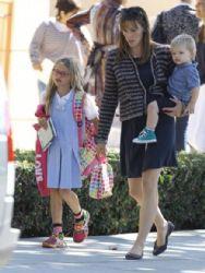 Jennifer Garner and kids: leaving school
