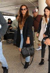 Leona Lewis is seen at LAX