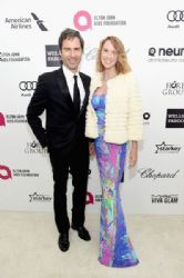 Eric McCormack and Janet Holden: Elton John AIDS Foundation Oscars 2015 Viewing Party