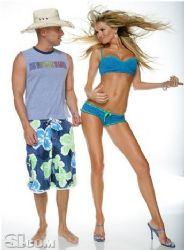 Kenny Chesney and Marisa Miller
