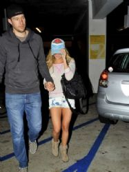 Ashley Tisdale and Scott Speer: Leaving the Arclight Theater in Hollywood
