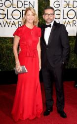 Nancy Carell and Steve Carell: 72nd Annual Golden Globe Awards 2015- Arrivals