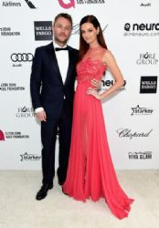 Lydia Hearst and Chris Hardwick: Elton John AIDS Foundation Oscars 2015 Viewing Party
