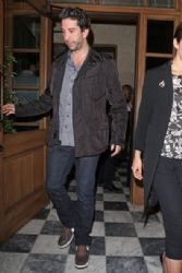 David Schwimmer and wife Zoe Buckman seen leaving together from the RivaBella restaurant in West Hollywood