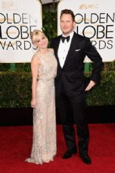 Anna Faris and Chris Pratt: 72nd Annual Golden Globe Awards 2015- Arrivals