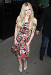 Avril Lavigne stops by the ABC Studios for an appearance on 'Good Morning America