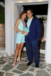 Evgenia Manolidou and Adonis Georgiades: Fei Skorda and Yorgos Liagas son baptism