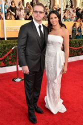 Matt Damon and Luciana Damon: 20th Annual Screen Actors Guild Awards - Red Carpet