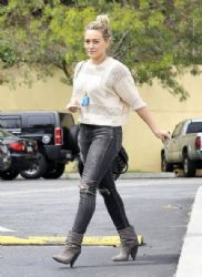 Hilary Duff stops by Coffee Bean in West Hollywood