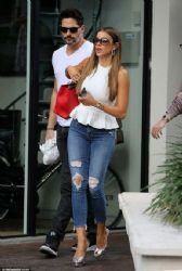 Sofia Vergara and fiancé Joe Manganiello during an outing in Miami