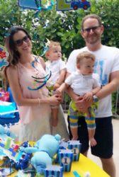 Maritza Rodríguez and Joshua Mintz: birthday party