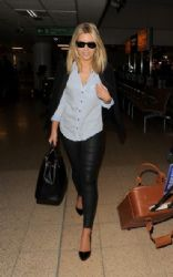 Mollie King: arrives at Heathrow Airport on a flight from Dublin