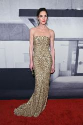 Hilary Rhoda wears Pamella Roland - The Whitney Museum Of American Art's 2014 Gala