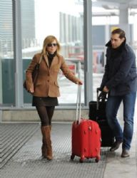 Geri Halliwell arrives at Heathrow airport
