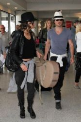 Nikki Reed: at LAX