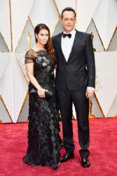 Kyla Weber and actor Vince Vaughn: 89th Annual Academy Awards - Arrivals