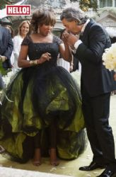 Tina Turner wears Armani Privé - Wedding gown