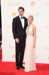 Joanne Froggatt and James Cannon: Arrivals at the 66th Annual Primetime Emmy Awards