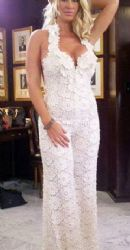 Kim Zolciak's Lacy Bridal Jumpsuit